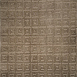 """Safavieh - Tibetan Greek Key Sage Rug - Safavieh's High Touch Tibetan Weave brings an ancient weave and fine materials to the present sensibilities of today's interior design. Simple geometric patterns, almost hidden within the weave, with muted accents, soft shades and neutral earth tones, are the main visual characteristics of this series. Features: -Technique: Tibetan weave.-Style: Contemporary.-Vacuum regularly. Brushless attachment is recommended..-Avoid direct and continuous exposure to sunlight..-Do not pull loose ends; clip them with scissors to remove..-Remove spills immediately; blot with clean cloth by pressing firmly around the spill to absorb as much as possible. For hard-to-remove stains professional rug cleaning is recommended..-Construction: Handmade.-Collection: Tibetan.-Distressed: No.-Collection: Tibetan.-Construction: Handmade.-Technique: Knotted.-Primary Color: Olive.-Material: 100% Wool.-Fringe: No.-Reversible: No.-Rug Pad Needed: Yes.-Water Repellent: No.-Mildew Resistant: No.-Stain Resistant: No.-Fade Resistant: No.-Swatch Available: No.-Eco-Friendly: No.-Recycled Content: 0%.-Outdoor Use: No.-Product Care: Professional cleaning is recommended.Specifications: -Material: 100% Wool.Dimensions: -Overall Product Weight (Rug Size: 3' x 5'): 12.45 lbs.-Overall Product Weight (Rug Size: 5' x 7'6""""): 31.13 lbs.-Overall Product Weight (Rug Size: 6' x 9'): 44.82 lbs.-Overall Product Weight (Rug Size: 8' x 10'): 66.4 lbs."""