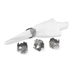 Pewter Leaf Napkin Rings - Every fall table needs great napkin rings. These pewter leaf ones have a simple but classic design.