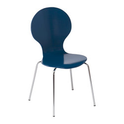 Holly & Martin - Holly & Martin Conbie Chairs Set of 2, Navy - Bring it all to the table with this lively pair of navy chairs. Our Conbie Chairs make it easy to sit down for a home-cooked meal but the cooking part is up to you! The bulbous bentwood form sets the stage for fun while the gently sloped seat front is comfy enough for a long night of games or anywhere seating when the house is packed.