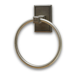 Residential Essentials - Aged Pewter Hamilton Towel Ring(RE2586AP) - Aged Pewter Hamilton Towel Ring