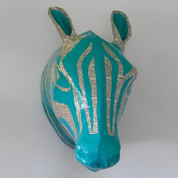 ZEBRA SKY PAPIER-MÂCHÉ HEAD - Animal Heads - Wall Decor - Kids by DwellStudio -