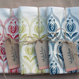 Art Deco Rose Tea Towel By lulu & luca - A set of handmade printed tea towels are a great gift idea for mom!