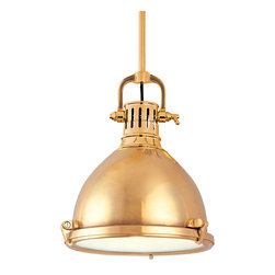 Hudson Valley Lighting - Hudson Valley Lighting 2212-AGB Pelham 1 Light Pendants in Aged Brass - This 1 light Pendant from the Pelham collection by Hudson Valley Lighting will enhance your home with a perfect mix of form and function. The features include a Aged Brass finish applied by experts. This item qualifies for free shipping!