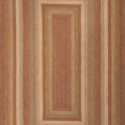 """Hudson Jute Braided Rugs HBR04 Rug - 2'3""""x3'9""""Oval - These braided jute rugs are both durable and rich in color and style."""