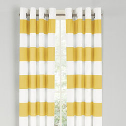 Nautica - Nautica Cabana Stripe Drape Set - Yellow Multicolor - 200660 - Shop for Curtains and Drapes from Hayneedle.com! Add a pop of style and color with the Nautica Cabana Stripe Drape Set - Yellow. The 84-inch long woven slub duck cloth drapes will cascade your windows and flow in the breeze on a warm day. This set comes complete with two drapes and matte silver grommets to ensure sturdiness.About NauticaNautica offers quality design and value while capturing the essence of an active adventurous and spirited lifestyle. Nautica took its name from the Latin word Nauticus for ship. Since one of mankind's first accomplishments in exploring the world was to take to the seas a spinnaker logo was designed as a symbol of adventure action and classicism.Founded in 1983 Nautica has evolved from a collection of men's outerwear to a leading global lifestyle brand with products ranging from men's women's and children's apparel and accessories to a complete home collection. Now part of VF Corporation a leader in branded quality apparel Nautica has become one of the most important American lifestyle brands throughout the world.