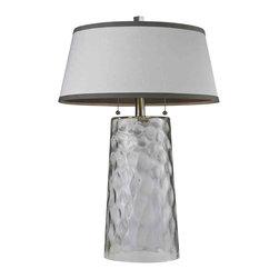 Dimond Lighting - Dimond Lighting HGTV238 HGTV Home Clear Water Glass Table Lamp - Dimond Lighting HGTV238 HGTV Home Clear Water Glass Table Lamp
