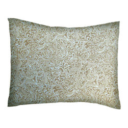 SheetWorld - SheetWorld Twin Pillow Case - Percale Pillow Case - Beige Breeze - Made in USA - Pillow case is made of a durable all cotton percale material. Fits a standard twin size pillow. Features a Beige Breeze print.
