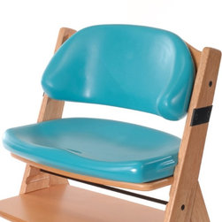 Bergeron By Design - Keekaroo Height Right Comfort Cushion Seat & Back Set - Aqua Multicolor - 005263 - Shop for Cushions and Pads from Hayneedle.com! The Keekaroo Height Right Comfort Cushion Seat & Back Set adds squeezy-soft comfort to the versatile Height Right Wooden High Chair. Used with the High Chair's 3-point harness the Comfort Cushion holds kids in no-slip comfort happy and secure as a hug. The latex-free Aqua-blue seat is peel and tear-resistant made to last. Impermeable to fluids it's easy to clean too and includes anti-microbial protection. It used to be hard to get kids in a high chair. With Comfort Cushions they don't want to get out. About KeekarooKeekaroo high chairs and accessories were the brainchild of a father devoted to making better safer furniture for his own children. Rethinking size shape and support from the perspective of a parent owner Tom Bergeron tapped the creativity and insights of his own children to create the most innovative line of high chairs and accessories available. Each offers a more comfortable seating experience grows with your child and has an easy-to-clean surface for Mom and Dad.