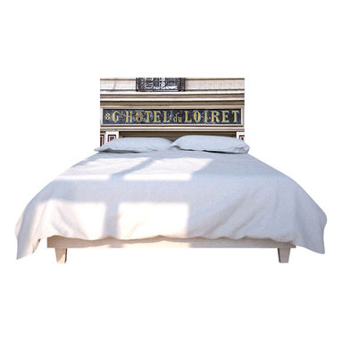 NOYO - Hotel du Loiret Headboard, Queen - Stylish custom headboard with exchangable slipcover. Machine wash slipcover, wipe clean cedar wood frame. Easy assembly and installation, hardwarde included.