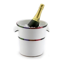 Artistica - Hand Made in Italy - Circo: Ice Bucket - The Circo-Bello collection is an exclusive product from Deruta of Italy designed by Bill Goldsmith.
