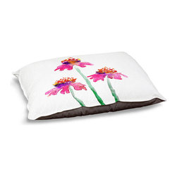 DiaNoche Designs - Dog Pet Bed Fleece - Echinacea - The comfort of your pet is of the utmost importance. But shouldn't their furniture match yours? DiaNoche Designs gives your pet some clout with our stable of international artists designs on their new bed.