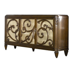 American Drew - American Drew Jessica McClintock Couture Stone Top Buffet in Mink Finish - American Drew - Buffet Tables and Sideboards - 908856
