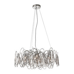 Dainolite - 6 Light Chandelier Burnished Nickel Finish - -Main Body Material: Steel