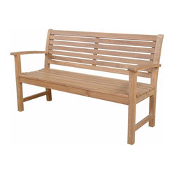 Anderson Outdoor Furniture - Victoria 3-Seater Bench - Remember to stop and smell the roses. And why not relax a bit while you're doing it? This solid teak bench adds comfort and elegance to your yard or patio.