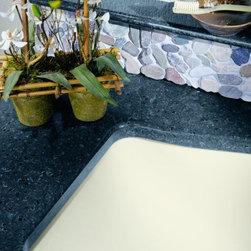 Zodiaq® Borealis Blue sink detail. - Photo by Dupont