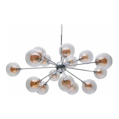Rene Suspension - This retro-modern fixture would look amazing in a modern or transitional dining room.