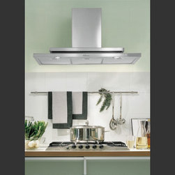"""48"""" """"Symbol"""" by Futuro Futuro Kitchen Vent Hoods - """"True ornament is not a matter of prettifying externals. It is organic with the structure it adorns."""" Frank Lloyd Wright's design sentiment is truly appropriate to the Symbol range hood by Futuro Futuro."""