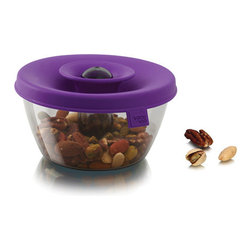 Purple Snack Dispenser - Ingenious design makes snacking more fun than it ought to be.