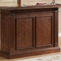 American Heritage - American Heritage Valore Collection Maple Bar in Navajo - 70'' Bar Finished in Navajo  this stylish Birch home bar features Glass Stemware Holders  Wine Racks  and plenty of Storage Shelving. With a Birch top and lots of storage space  decorative panels and moulding.