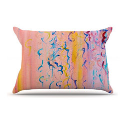"""Kess InHouse - Ebi Emporium """"Cotton Candy Whispers"""" Pillow Case, Standard (30"""" x 20"""") - This pillowcase, is just as bunny soft as the Kess InHouse duvet. It's made of microfiber velvety fleece. This machine washable fleece pillow case is the perfect accent to any duvet. Be your Bed's Curator."""