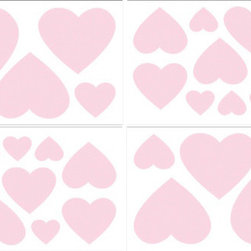 Sweet Jojo Designs - Chenille Pink Wall Decal Set of 4 Sheets by Sweet Jojo Designs - The Chenille Pink Wall Decal Set of 4 Sheets by Sweet Jojo Designs, along with the bedding accessories.