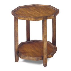 No. 1111 Octagon Table in Cherry, Mocha Finish, Severe Antique Distressing -