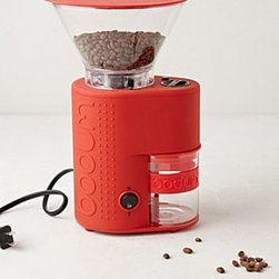 """Bodum - Bodum Coffee Grinder - Stainless steel, rubber, glass, plastic, siliconeHand wash10.75""""H, 4.75""""W, 6.25""""DImported"""