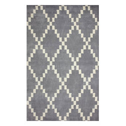 nuLOOM - Contemporary 5' x 8' Grey Hand Tufted Area Rug RE36 Trellis - Made from the finest materials in the world and with the uttermost care, our rugs are a great addition to your home.