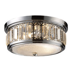 Elk Lighting - Elk Lighting 11226/2 Two Light Flushmount Ceiling Fixture from the Flushmount Co - Two light flushmount ceiling fixture from the flushmount collectionThe flush mounts collection exhibits the same beautiful detailing as a chandelier, but in a smaller size suitable for lower ceilings and smaller spaces.  Each item has an attractive banding on top with white satin glass and a decorative finial.  Choose from various styles and finishes to match your d�cor.Features :