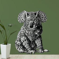 My Wonderful Walls - Koala Bear Wall Sticker Decal –  Ornate Animal Artwork by BioWorkZ, Small - - Product: ornate koala wall sticker decal