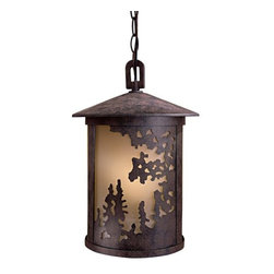 The Great Outdoors - The Great Outdoors GO 72034-PL 1 Light Lantern Pendant Sunset Ranch Col - Single Light Lantern Pendant from the Sunset Ranch CollectionFeatures: