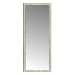 """Posters 2 Prints, LLC - 23"""" x 56"""" Libretto Antique Silver Custom Framed Mirror - 23"""" x 56"""" Custom Framed Mirror made by Posters 2 Prints. Standard glass with unrivaled selection of crafted mirror frames.  Protected with category II safety backing to keep glass fragments together should the mirror be accidentally broken.  Safe arrival guaranteed.  Made in the United States of America"""