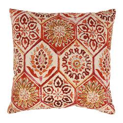 Pillow Perfect - Summer Breeze 23-inch Floor Pillow in Crimson - Add the finishing touch to your home decor with this pillow from Pillow Perfect. This pillow has an eye-catching design that will highlight your home decor.