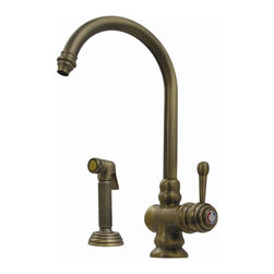 Whitehaus - Evolution Colonial Style Faucet w Solid Brass - Finish: Antique CopperSingle hole. Single lever mixer. Gooseneck swivel spout. Polished chrome finish. 7.5 in. L x 10.13 in. H. Warranty