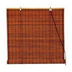 Oriental Unlimted - Burnt Bamboo Roll Up Blinds in Brown (60 in. - Choose Size: 60 in. WideCasual and relaxed with an island inspired appeal, these burnt bamboo roll up blinds will easily enhance your home's decor. Perfect for any room of your home, the blinds are available in your choice of sizes and are designed to diffuse light without preventing it from brightening your space. Burnt bamboo roll up blinds are a versatile addition to any window. They will fit in with any decor. Easy to hang and operate. 24 in. W x 72 in. H. 36 in. W x 72 in. H. 48 in. W x 72 in. H. 60 in. W x 72 in. H. 72 in. W x 72 in. H