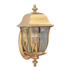 "Designers Fountain - Designers Fountain 1532-PVD-PB 6"" Wall Lantern Solid BrassGladiator Collection - Solid brass lanterns with a durable PVD finish that will not pit, tarnish, corrode or discolor."
