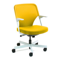 5th Ave Chair, Yellow - Sit on it and rotate with style.