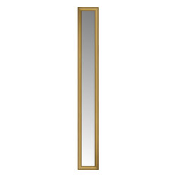 """Posters 2 Prints, LLC - 14"""" x 73"""" Arqadia Gold Traditional Custom Framed Mirror - 14"""" x 73"""" Custom Framed Mirror made by Posters 2 Prints. Standard glass with unrivaled selection of crafted mirror frames.  Protected with category II safety backing to keep glass fragments together should the mirror be accidentally broken.  Safe arrival guaranteed.  Made in the United States of America"""