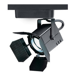"""WAC Lighting - WAC Lighting HHT-801L Low Voltage Track Heads Compatible with Halo Systems - 75W Single light track head for use with """"H"""" type connector. Equipped with a self contained electronic transformer. Available on 6"""", 12"""", 18"""", 36"""" or 48"""" inch extension rods (sold separately). Barn doors are sold separately under 801-BD."""