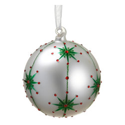 Silk Plants Direct - Silk Plants Direct Rhinestone Star Pattern Glass Ball Ornament (Pack of 12) - Silk Plants Direct specializes in manufacturing, design and supply of the most life-like, premium quality artificial plants, trees, flowers, arrangements, topiaries and containers for home, office and commercial use. Our Rhinestone Star Pattern Glass Ball Ornament includes the following: