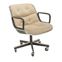 Knoll - Consigned  Mid Century Modern Desk Chair by Charles Pollock for Knoll - • Mid Century Modern