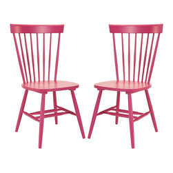 Safavieh - Parker Dining Chair (Set Of 2) - The Parker chair takes its cues from the classic American country home style but strips away any excess ornamentation Clean lines, simple lines and fresh colors update this airy addition to casual dining rooms.