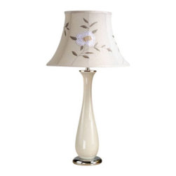 """Laura Ashley - Laura Ashley BTP415 28"""" Siena Table Lamp, Beige / Tia 16"""" Embroidered Floral Lin - 28"""" Siena Table LampLaura Ashley Home Lighting brings the distinctive style of Laura Ashley into your home with an impressive selection of lighting. Each piece embodies the English influence of Laura Ashley while bringing classical elegance to modern design."""