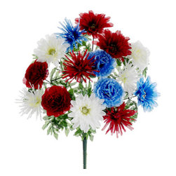 """Silk Plants Direct - Silk Plants Direct Carnation, Mum and Gerbera Daisy Bush (Pack of 12)"""" - Silk Plants Direct specializes in manufacturing, design and supply of the most life-like, premium quality artificial plants, trees, flowers, arrangements, topiaries and containers for home, office and commercial use. Our Carnation, Mum and Gerbera Daisy Bush includes the following:"""