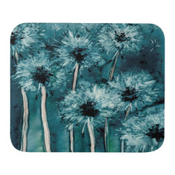 """Brazen Design Studio - Mousepad - Dandelion Wishes Floral Painting - Art for Home or Office - Spice up your desk or work areas with this beautiful and colorful piece of art on a mouse pad! These mouse pads are top-quality and measure approximately 9.25"""" by 7.75"""" and 1/4"""" thick with a rubber base. They are heavy duty and meant to last."""