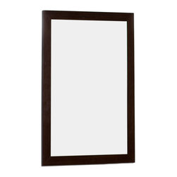 American Imaginations - 21.5-in. W x 31.5-in. H Modern Plywood-Veneer Wood Mirror - This modern wood mirror belongs to the exquisite Nikki design series. It features a rectangle shape. This wood mirror is designed to be installed as an wall mount wood mirror. It is constructed with plywood-veneer. This wood mirror comes with a lacquer-stain finish in Wenge color. Solid plywood mirror constructed from a high quality premium glass This Wood Mirror features Antique Brass hardware. Can be installed vertically or horizontally. No assembly required.