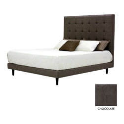 Apt2B - Beverly Drive Upholstered Bed, Chocolate, Cal King - Apt2B is very proud to introduce the Beverly Drive Bed to our lineup! Inspired from one of our best selling sofas the Beverly, this incredibly stylish and sleek button tufted upholstered beds come in a choice of fabrics.