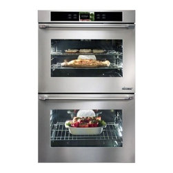 "Dacor - DYOV230B Discovery iQ 30"" Electric Double Wall Oven with 4.8 cu. ft. Convection - With another industry first Dacors Discovery iQ Wall Oven blends technology and performance to deliver a unique cooking experience The integrated and intuitive Android interface provides home chefs with access to the proprietary Dacor iQ Cooking App ..."