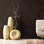 African Wave Stencil - African Wave Stencil from Royal Design Studio for walls, furniture, ceiling, floor, and fabric.