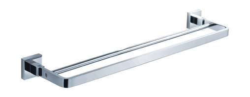 "Fresca - Fresca Glorioso 20"" Double Towel Bar - Chrome - All of our Fresca bathroom accessories are made with brass with a triple chrome finish and have been chosen to compliment our other line of products including our vanities, faucets, shower panels and toilets.  They are imported and selected for their modern, cutting edge designs."